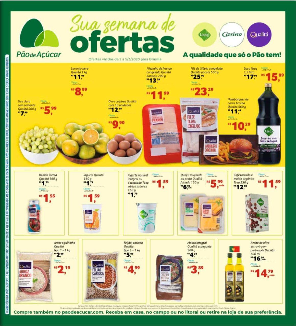 Ofertas supermercado Pão de açucar vence 05-03-1
