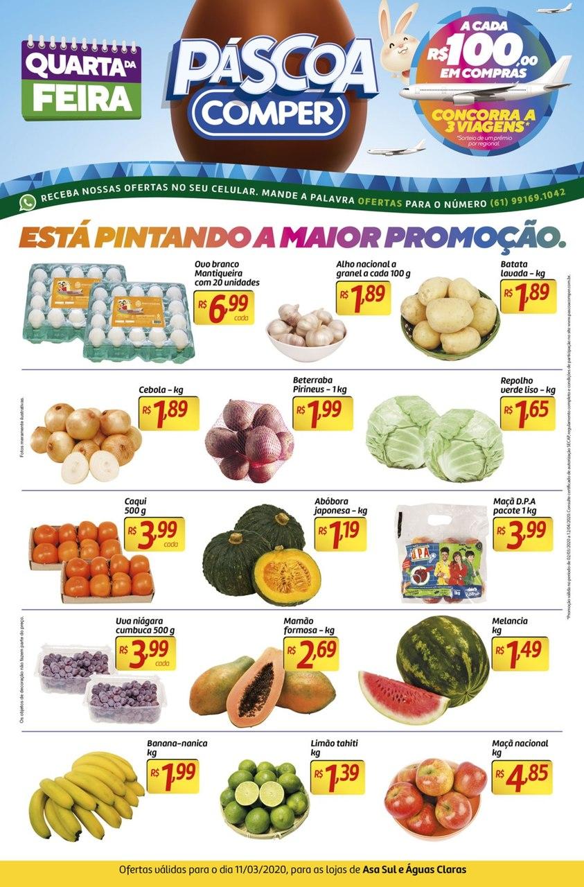 Ofertas supermercado COMPER Aguas Claras e Asa Sul 11-03-1
