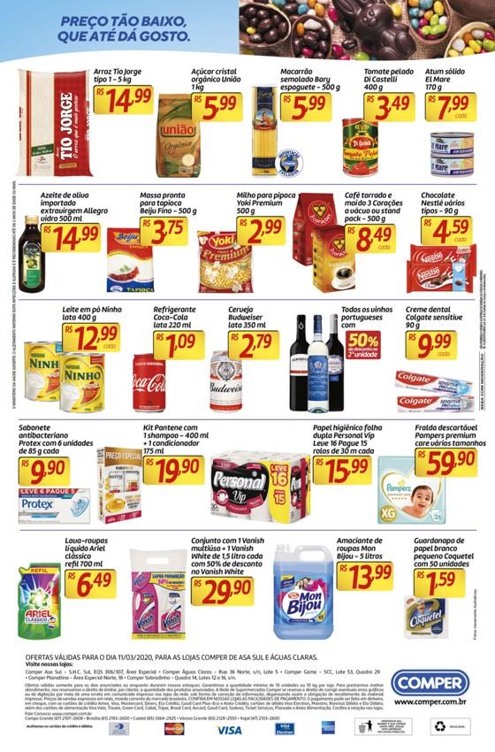 Ofertas supermercado COMPER Aguas Claras e Asa Sul 11-03-2