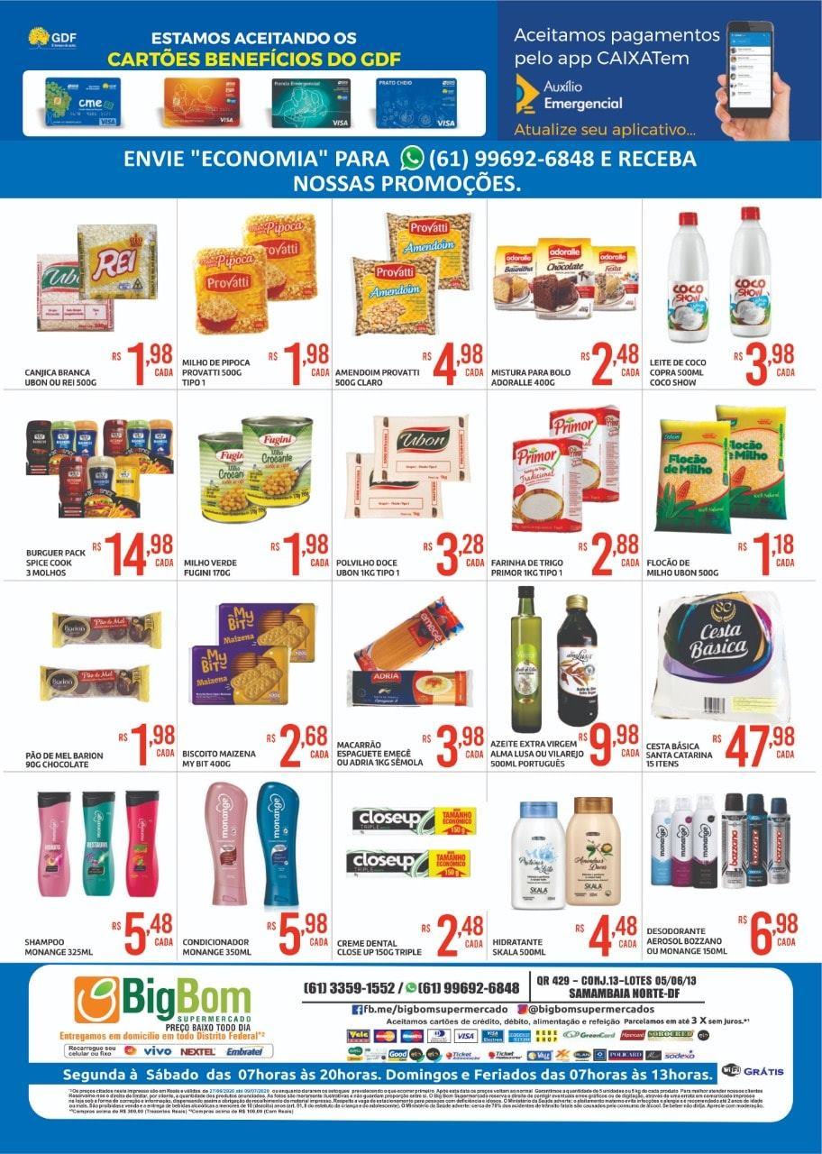 Ofertas supermercado Big Bom 09-07-2