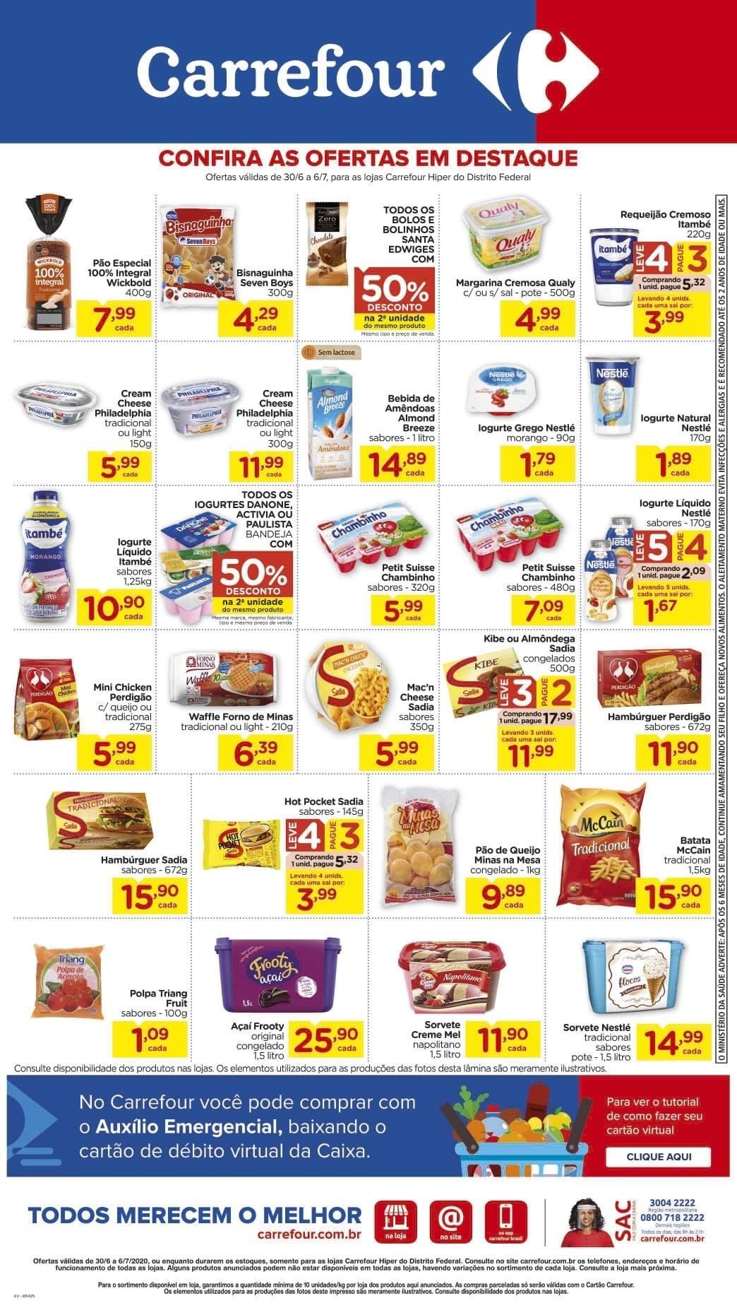 Ofertas supermercado Hipermercado Carrefour vence 06-07-06