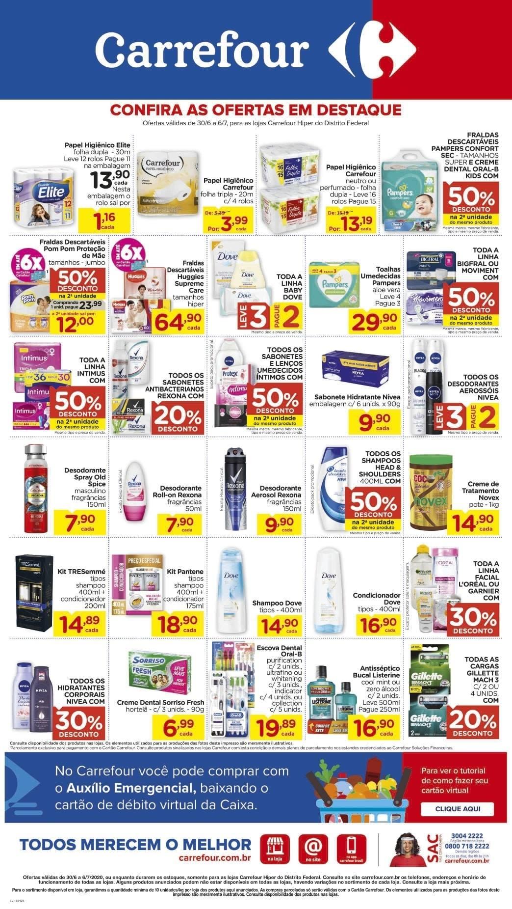 Ofertas supermercado Hipermercado Carrefour vence 06-07-08