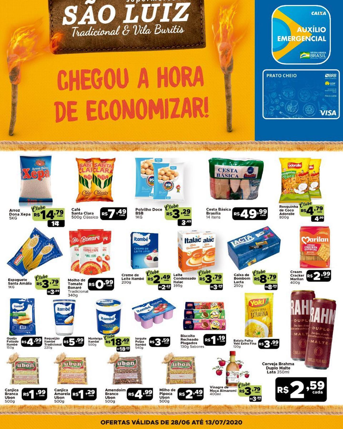 Ofertas supermercado SÂO LUIZ vence 13-07-1