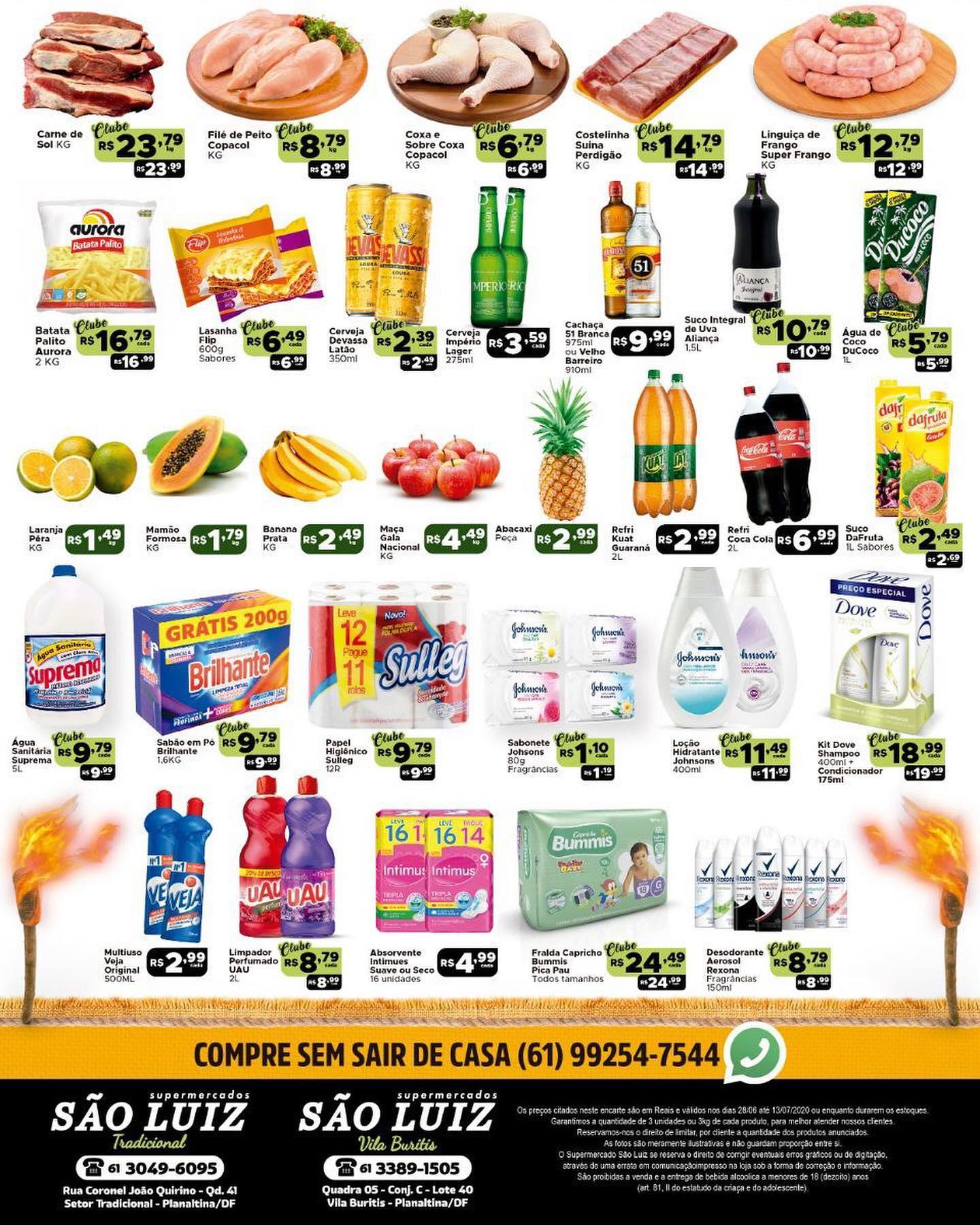 Ofertas supermercado SÂO LUIZ vence 13-07-2