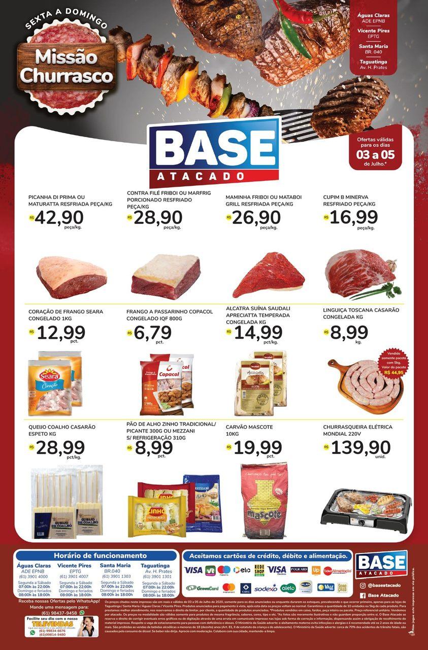 Ofertas de supermercado BASE atacado churrasco carnes vence 05-07-1