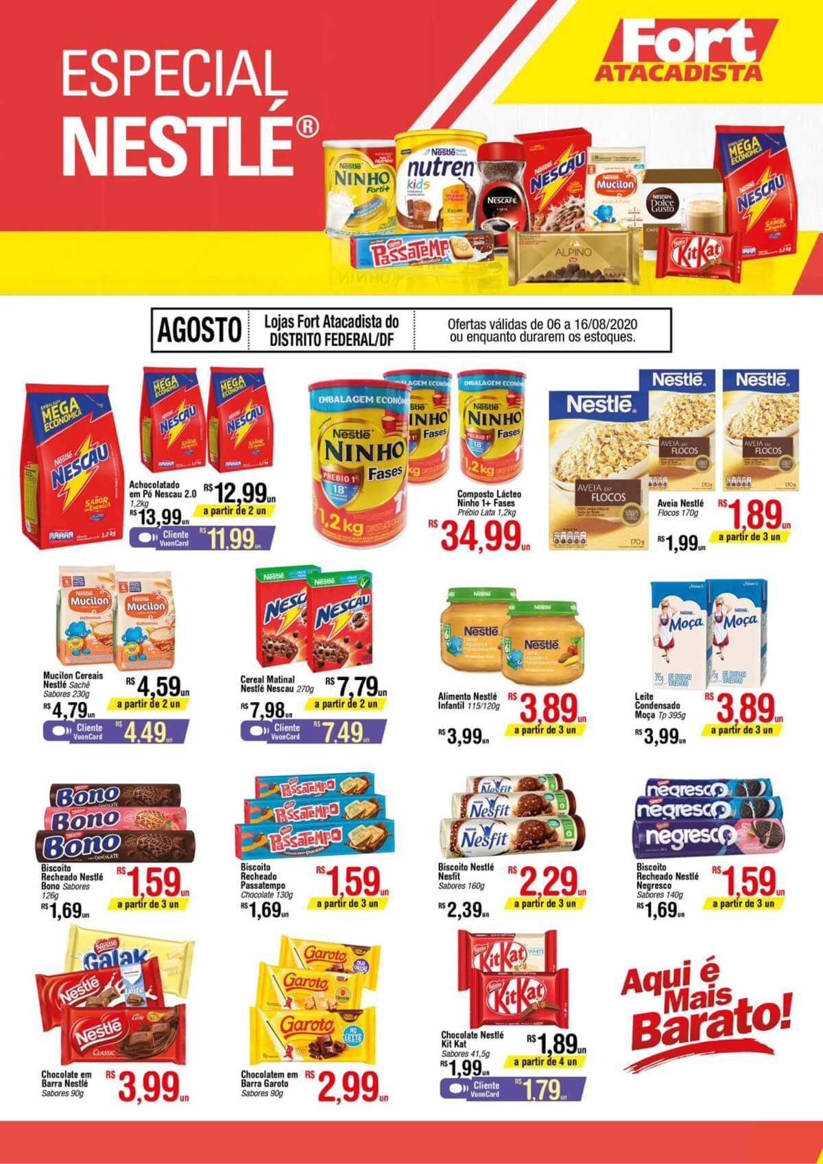 Ofertas supermercado FORT atacadista vence 16-08-1