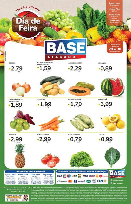 Ofertas de supermercado BASE atacado frutas e verduras vence 30-09-1