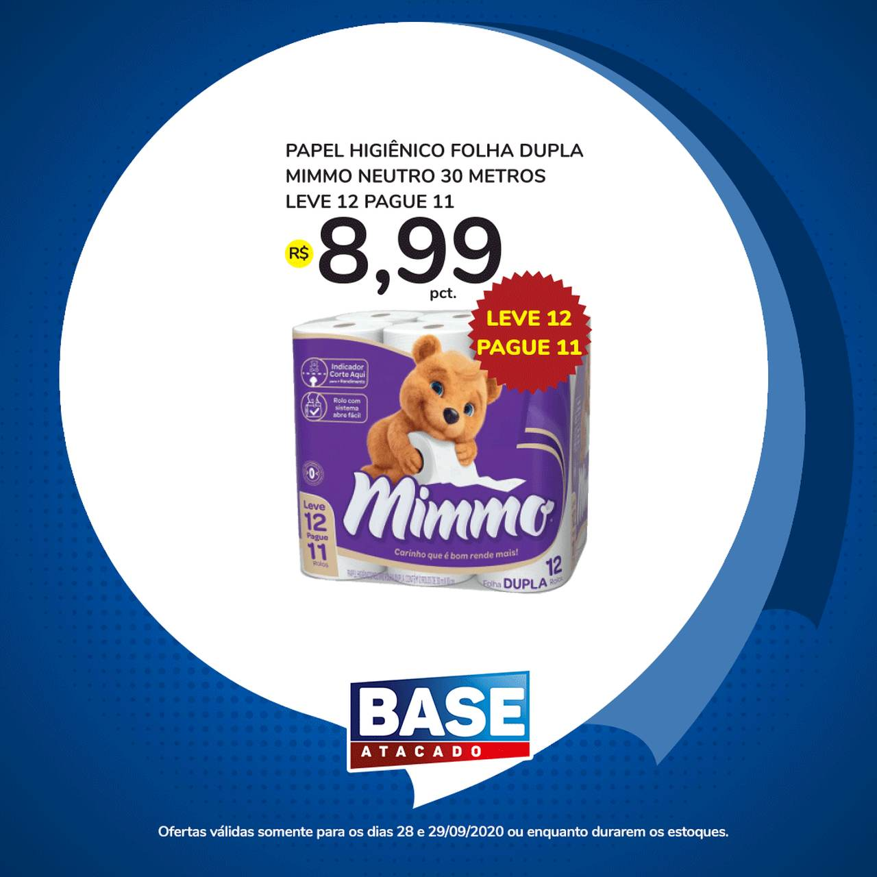 Ofertas de supermercado BASE atacado segunda e terça de super ofertas vence 29-09-4